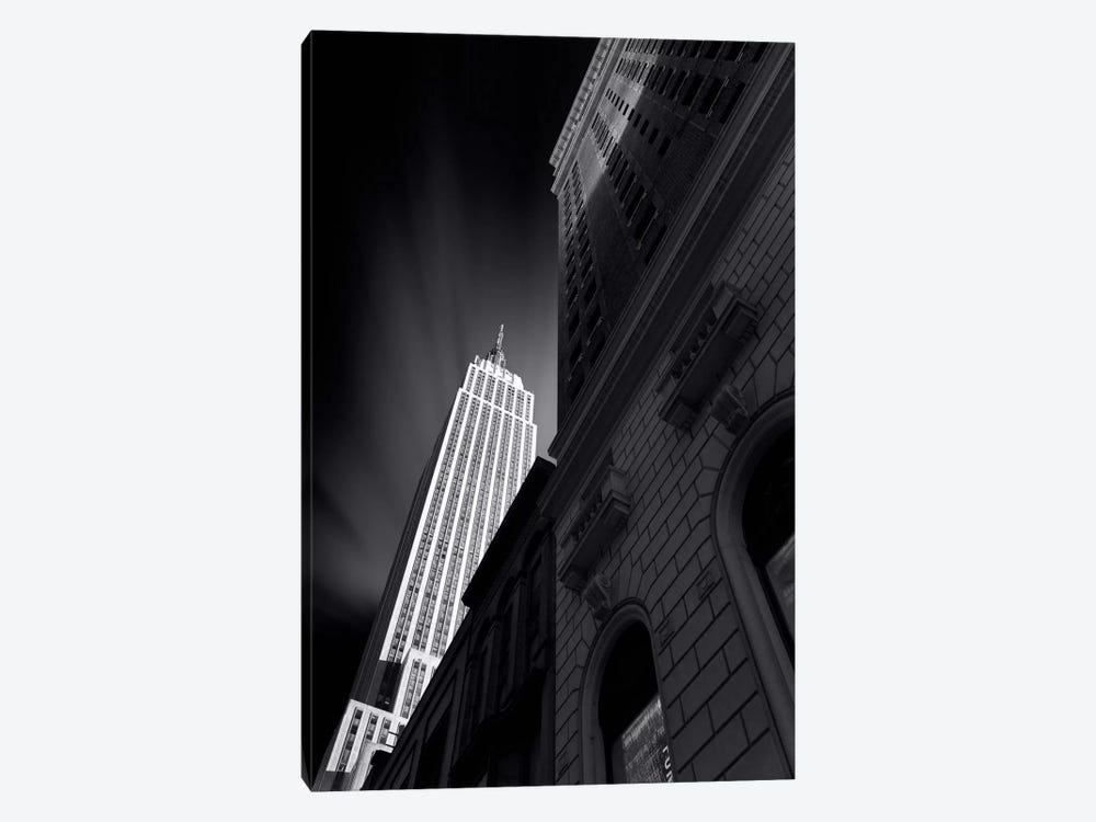 The Skyscraper of NYC in B&W by Sebastien Del Grosso 1-piece Canvas Wall Art