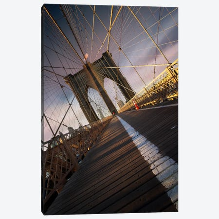 Brooklyn Bridge Web Canvas Print #SDG10} by Sebastien Del Grosso Canvas Art