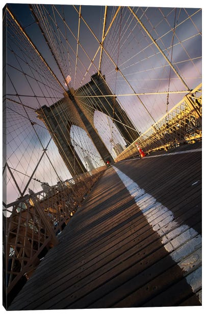 Brooklyn Bridge Web Canvas Art Print