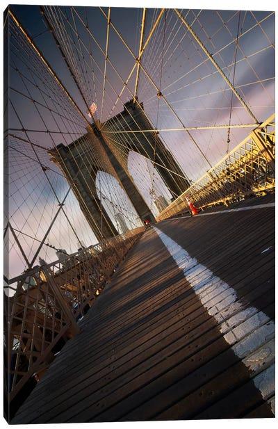 Brooklyn Bridge Web Canvas Art Print