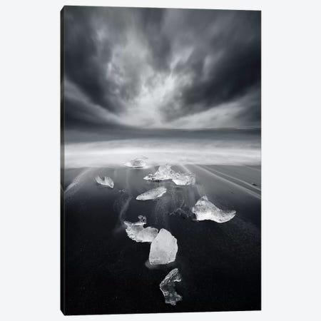 White Diamonds On Black Sand Canvas Print #SDG111} by Sebastien Del Grosso Canvas Art Print
