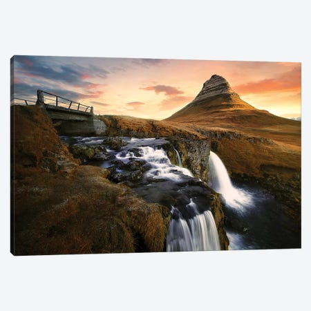 Icelandic Icon 3-Piece Canvas #SDG112} by Sebastien Del Grosso Canvas Print