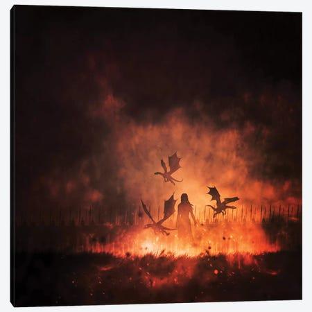 Mother Of Dragons Canvas Print #SDG134} by Sebastien Del Grosso Canvas Artwork