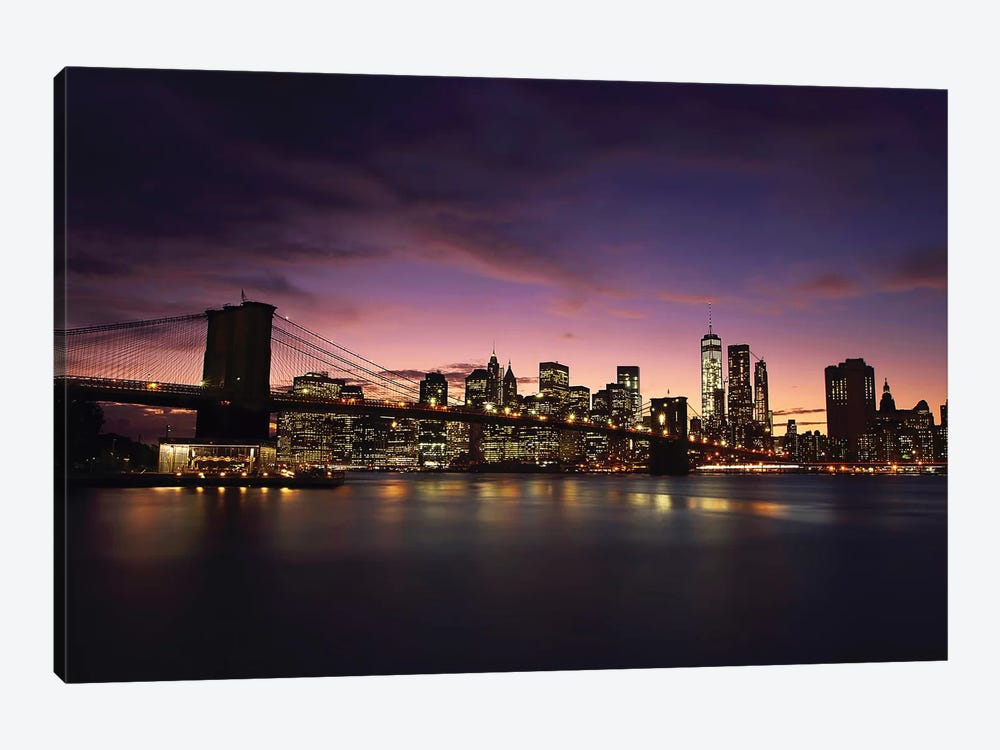 NYC Skyline At Sunset by Sebastien Del Grosso 1-piece Art Print
