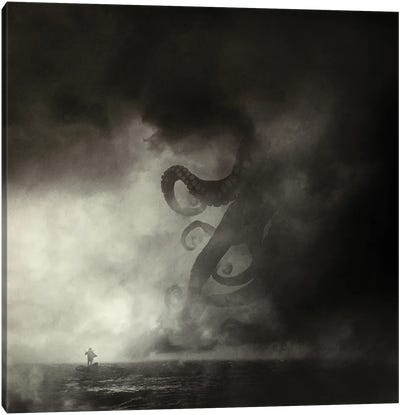Guardian Of The Abyss Canvas Art Print