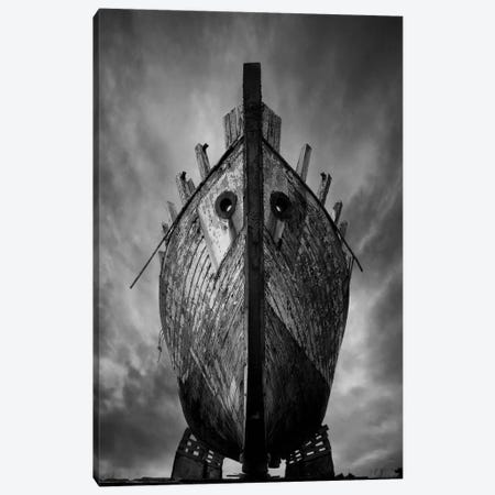 Drakkar B&W Canvas Print #SDG35} by Sebastien Del Grosso Canvas Print