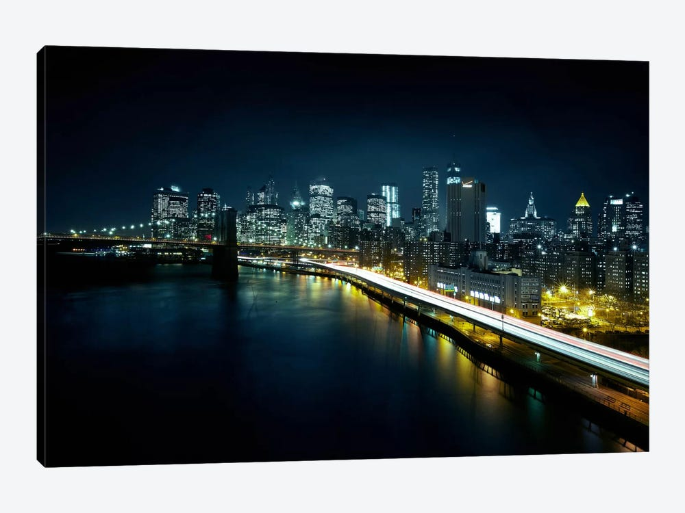 Gotham City II by Sebastien Del Grosso 1-piece Canvas Artwork