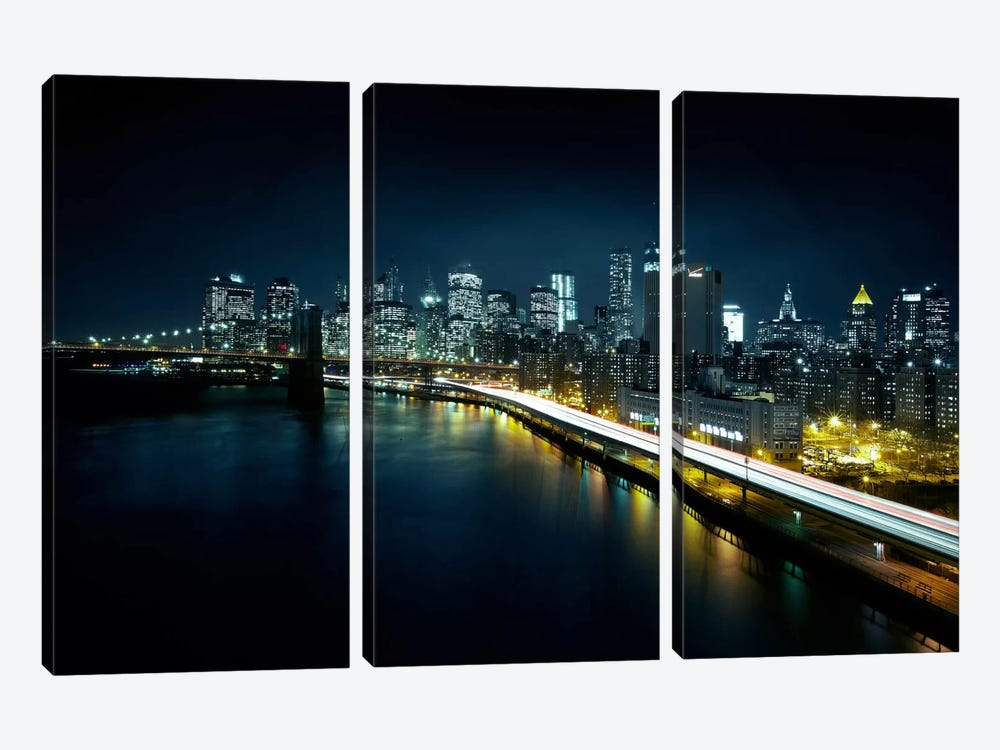 Gotham City II by Sebastien Del Grosso 3-piece Canvas Art