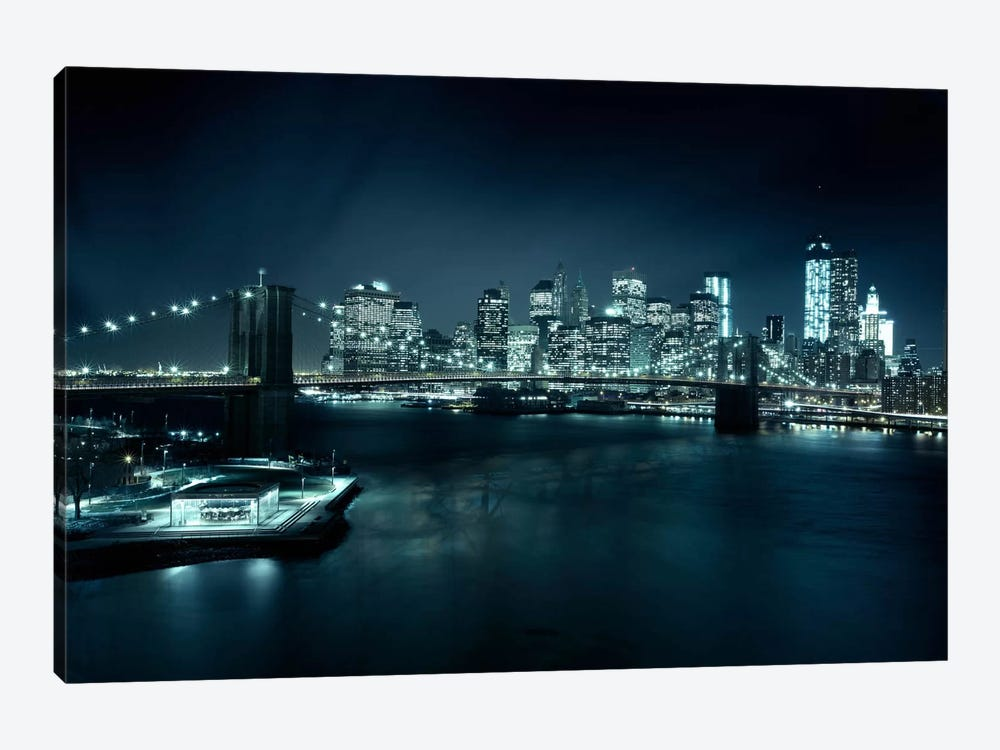 Gotham City II 1-piece Canvas Art