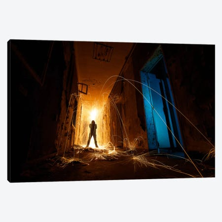 Intruder 3-Piece Canvas #SDG56} by Sebastien Del Grosso Canvas Art Print
