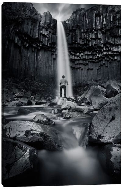 Tha dark Svartifoss Canvas Art Print