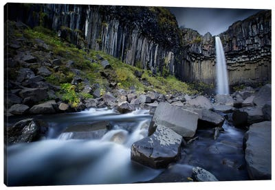 The Dark Waterfall II Canvas Art Print