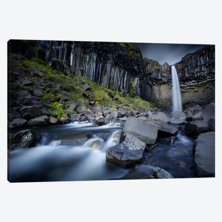 The Dark Waterfall II 3-Piece Canvas #SDG94} by Sebastien Del Grosso Canvas Art Print