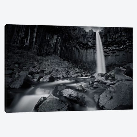 The Dark Waterfall I Canvas Print #SDG95} by Sebastien Del Grosso Canvas Art Print