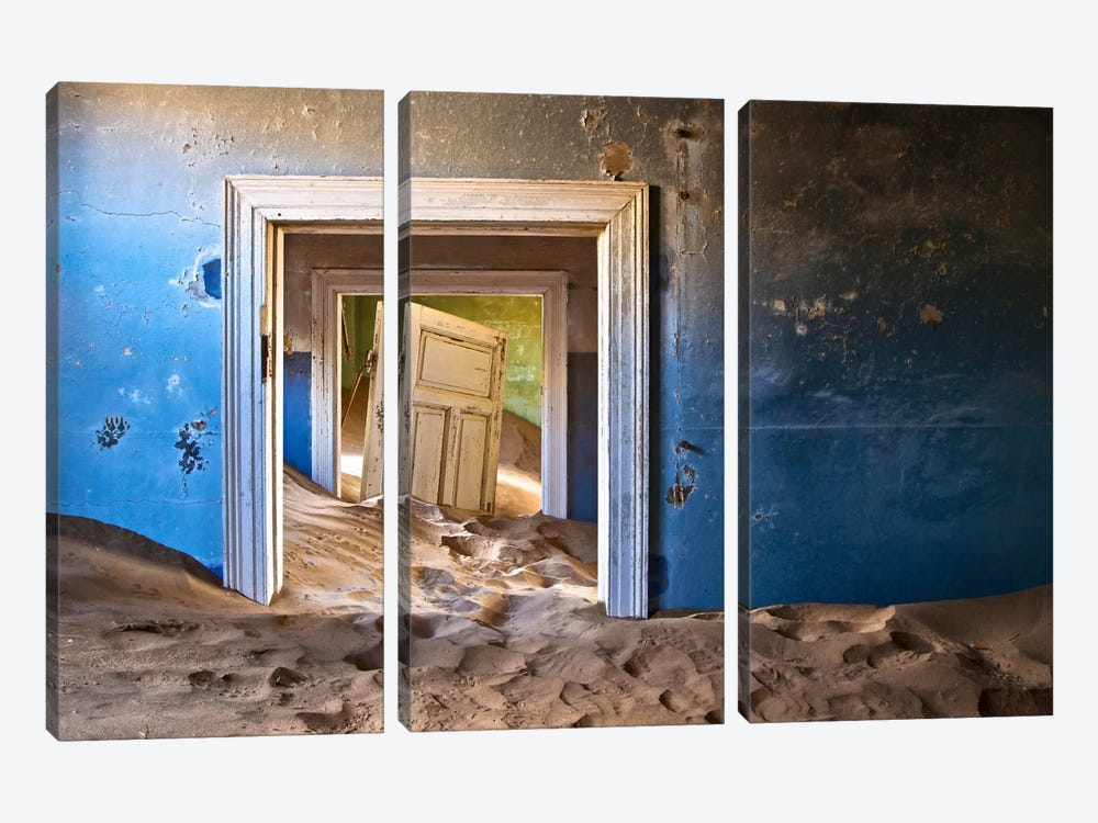 The Ghost Town by Sebastien Del Grosso 3-piece Canvas Art