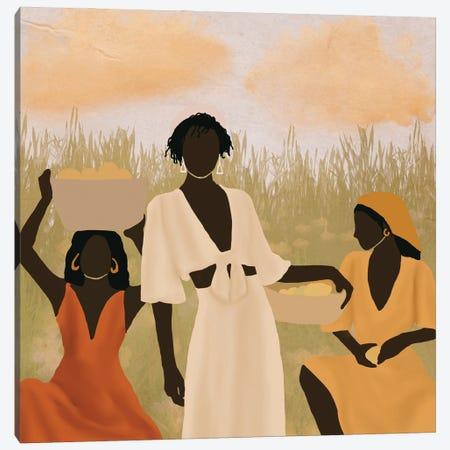 Lemon Picking Canvas Print #SDH10} by Sarah Dahir Art Print