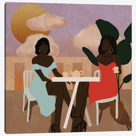 Afternoon Tea Canvas Print #SDH11} by Sarah Dahir Art Print