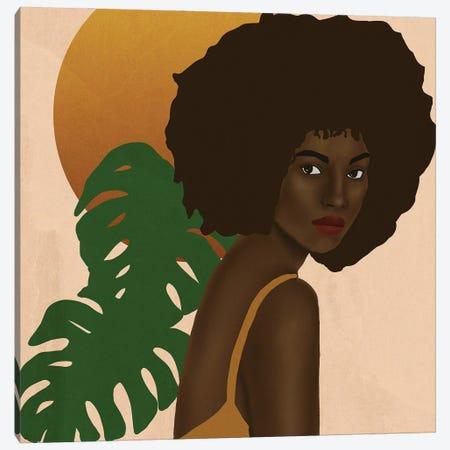 Girl In The Sun Canvas Print #SDH12} by Sarah Dahir Canvas Art Print