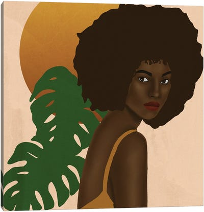 Girl In The Sun Canvas Art Print