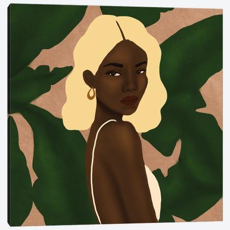 Blonde Canvas Print #SDH14} by Sarah Dahir Canvas Art