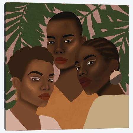 The Girls Canvas Print #SDH22} by Sarah Dahir Canvas Artwork