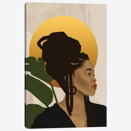 Orange Sun Canvas Print #SDH25} by Sarah Dahir Canvas Print