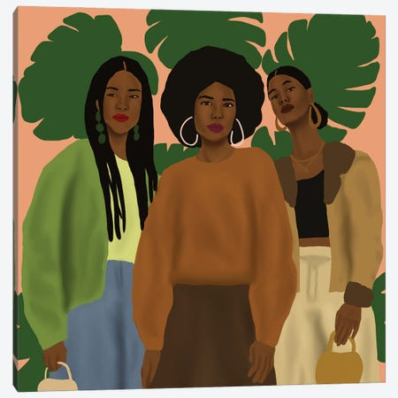 Pose With The Girls Canvas Print #SDH26} by Sarah Dahir Canvas Print