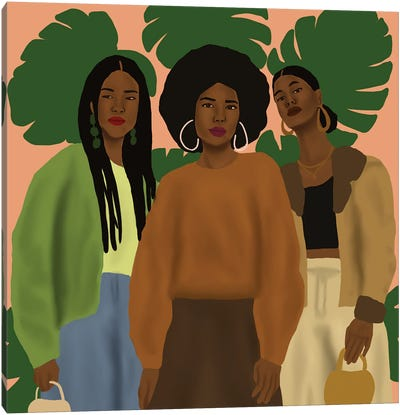 Pose With The Girls Canvas Art Print