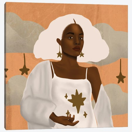 Dream Catcher Canvas Print #SDH2} by Sarah Dahir Canvas Artwork