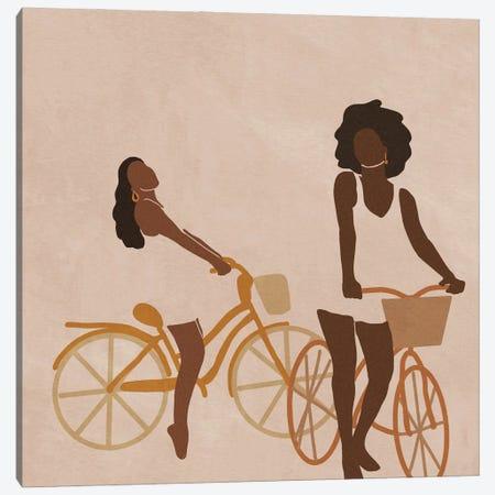 Biking Canvas Print #SDH31} by Sarah Dahir Canvas Art Print
