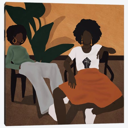 Tired Girls Canvas Print #SDH32} by Sarah Dahir Canvas Print
