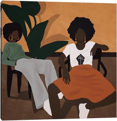 Tired Girls Canvas Art Print