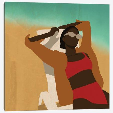 Sun Bathing Canvas Print #SDH33} by Sarah Dahir Canvas Art Print