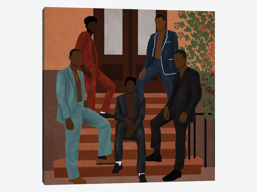 The Color Is Black by Sarah Dahir 1-piece Canvas Art Print