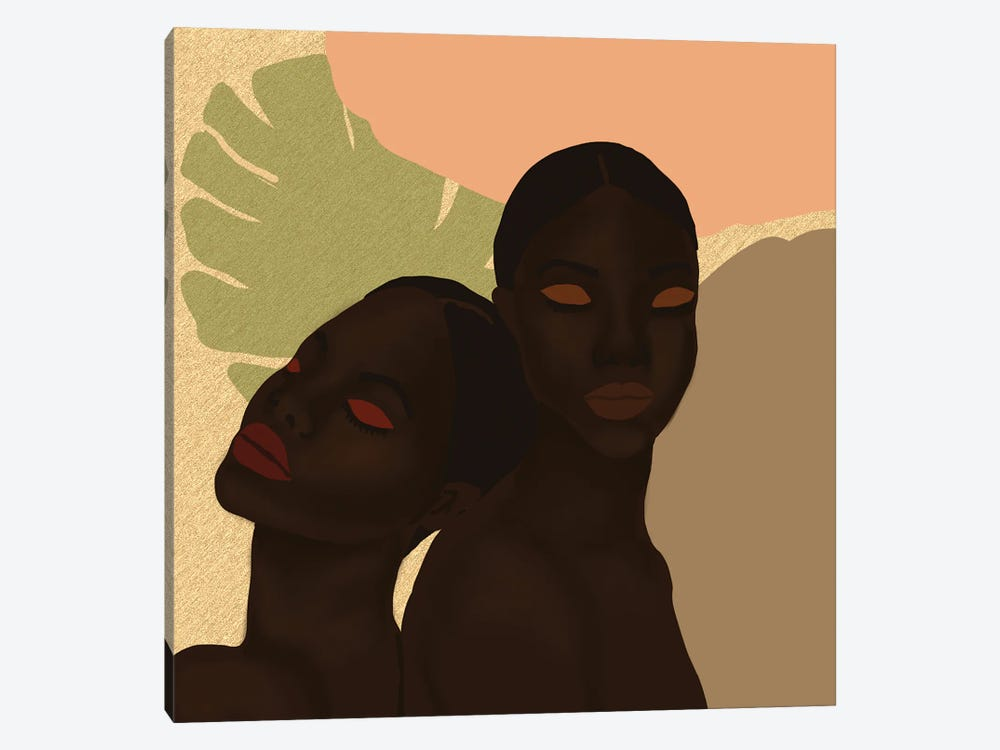 Twins by Sarah Dahir 1-piece Canvas Print