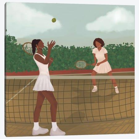 Tennis Canvas Print #SDH75} by Sarah Dahir Canvas Artwork