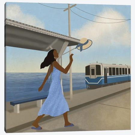 Blue Canvas Print #SDH77} by Sarah Dahir Canvas Wall Art
