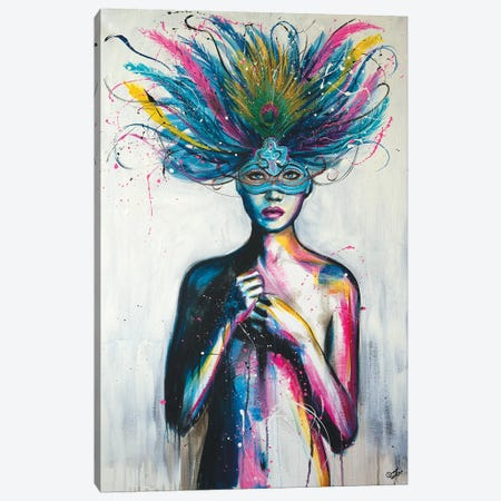 Masquerade Canvas Print #SDI12} by Studio Edin Canvas Wall Art