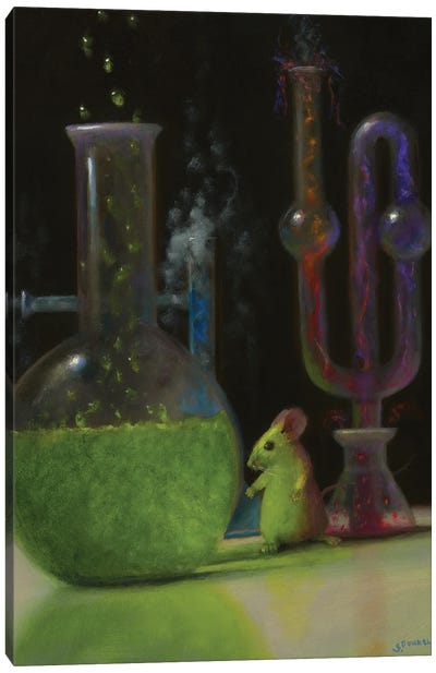 In The Lab Canvas Art Print
