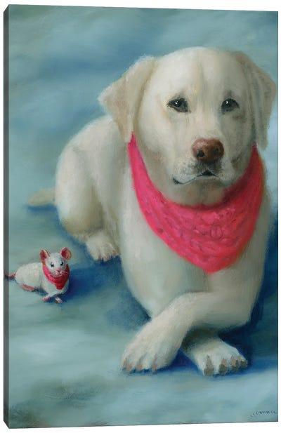 Madison And Pal Chuckie Canvas Art Print