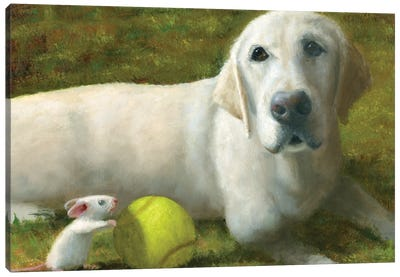 Millie At Play Canvas Art Print