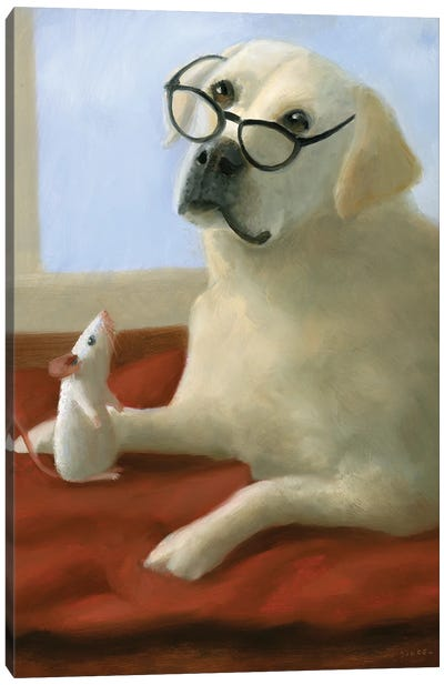 Miss Daisy With Glasses Canvas Art Print