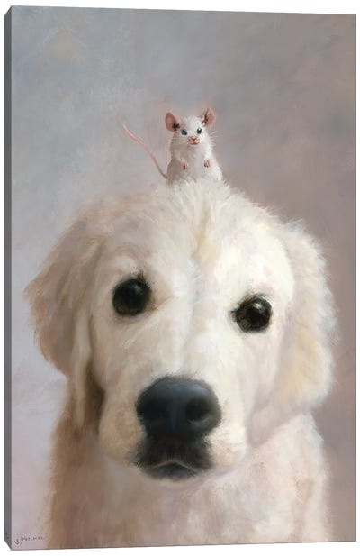 Puppy Emma And Pal Chuckie Canvas Art Print