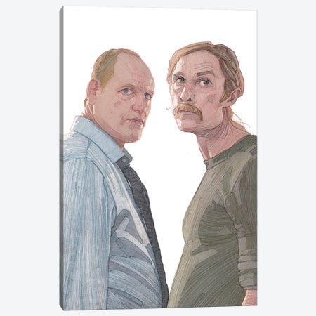 True Detective Canvas Print #SDM18} by Stavros Damos Canvas Wall Art
