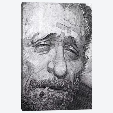 Charles Bukowski Canvas Print #SDM1} by Stavros Damos Canvas Print