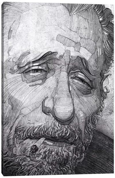 Charles Bukowski Canvas Art Print
