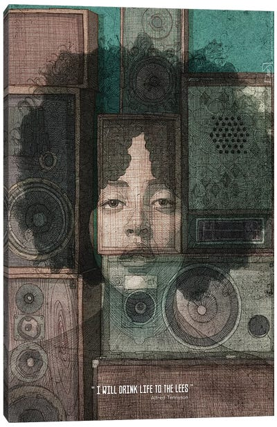 Vintage Lady Canvas Art Print