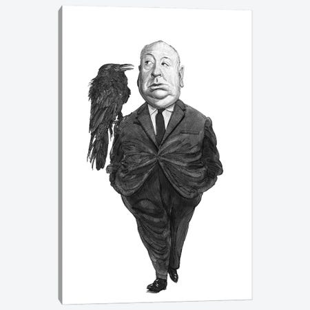 Alfred Hitchcock Canvas Print #SDM21} by Stavros Damos Canvas Print