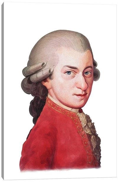 Amadeus Mozart Canvas Art Print