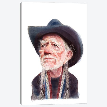 Willie Nelson Canvas Print #SDM24} by Stavros Damos Canvas Artwork